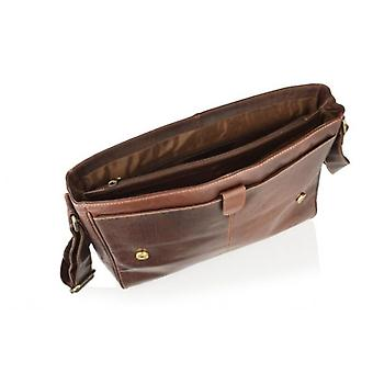 Woodland Leather Landscape Messenger