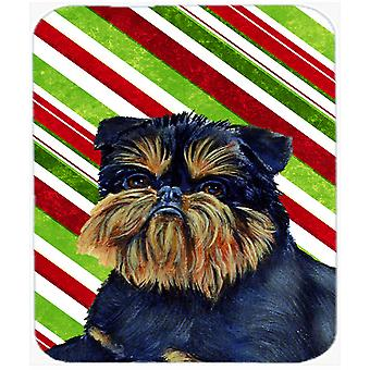 Brussels Griffon Candy Cane Holiday Christmas Mouse Pad, Hot Pad or Trivet
