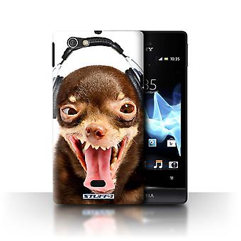 STUFF4 Case/Cover for Sony Xperia Miro/ST23I/Ridiculous Dog/Funny Animals