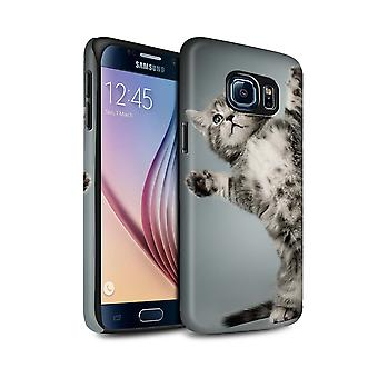 STUFF4 Matte Tough Shock Proof Phone Case for Samsung Galaxy S6/G920/High Five/Cute Kittens