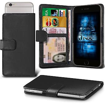 ONX3 (Black) BlackBerry DTEK50 / BlackBerry Neon Case Premium PU Leather Universal Spring Clamp Wallet Case with Camera Slide, Card Slot Holder and Banknotes Pocket