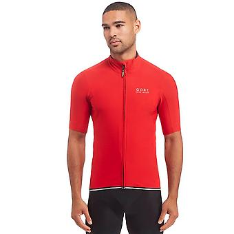 Power WINDSTOPPER Soft Shell Jersey maschile rosso Gore Bike Wear