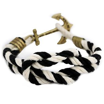 Kiel James Patrick ACK latitude anchor bracelet black and white ladies men's jewelry