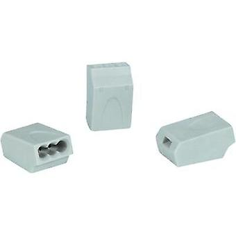 Connector clip flexible: 0.5-1.5 mm² rigid: 0.5-1.5 mm² Number of pins: 3 HellermannTyton HECE-3X1 5-PA-GY-100 1 pc(s) G