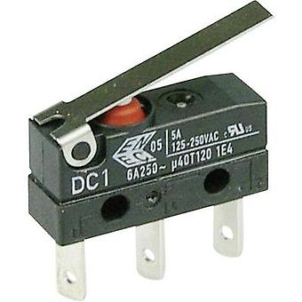 Microswitch 250 Vac 6 A 1 x On/(On) Cherry Switches DC1C-L1LC IP67 momentary 1 pc(s)
