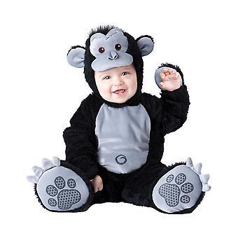 Fedtmule Gorilla Monkey Ape animalske Deluxe Baby drenge spædbarn kostume