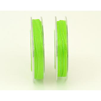 3mm Organza Craft Ribbon - 10m Reel - Lime Green | Ribbons & Bows for Crafts