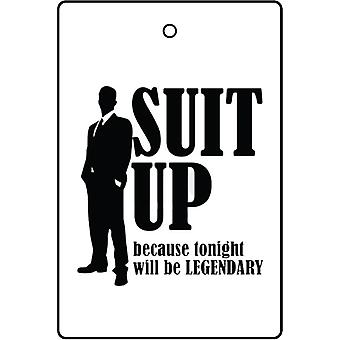 Suit Up Car Air Freshener