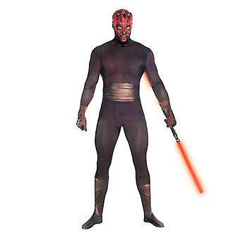 Star Wars Darth Maul Adult Unisex Zapper Cosplay Costume Digital Morphsuit - X Large - Multi-Colour (MLZDMX-XL)