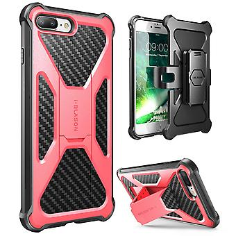 i-Blason-iPhone 7 Plus Case-Transformer Kickstand Holster Cover case-Pink