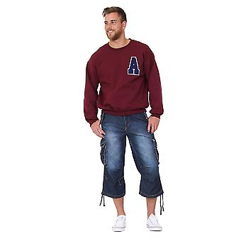 Men multiple pockets contrast stitching