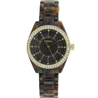 Fossil ladies watch resin strap watch stainless steel rhinestone BQ1196