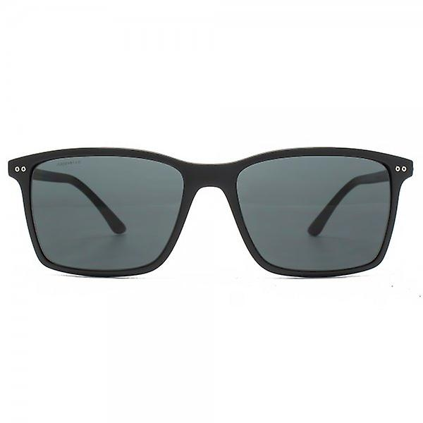 Giorgio Armani Frame Of Life Square Sunglasses In Matte Black