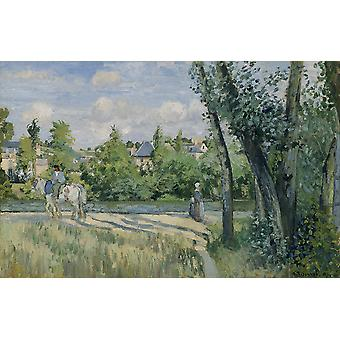 Camille Pissarro - Sunlight on the Road Pontoise Poster Print Giclee