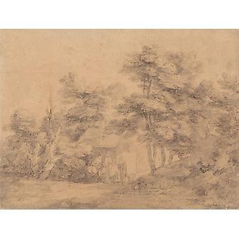 Thomas Gainsborough - Landscape Poster Print Giclee