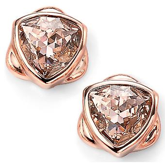 925 Silver Rose Gold Plated Swarovski Crystal Triangle Earring