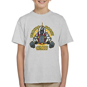 Techno hest Gym Bravestarr Kid's T-Shirt