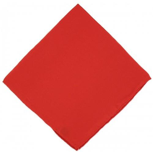 Michelsons of London Plain Silk Handkerchief - Red