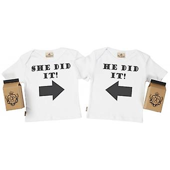 Spoilt Rotten He Did It She Did It Toddler T-Shirt