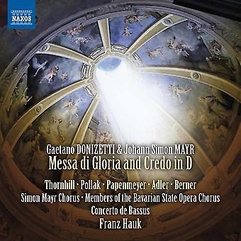 Donizetti / Thornhill / Pollak - Donizetti & Simon Mayr: Messa Di Gloria & Credo [DVD] USA import