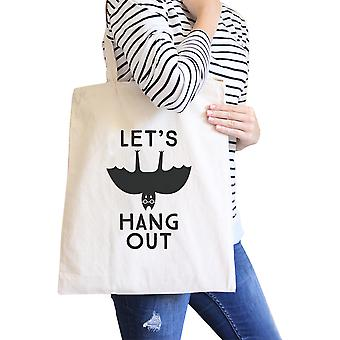 Lassen Sie uns hängen natürliche Halloween Fledermaus Canvas Tasche abwaschbar Wickeltasche