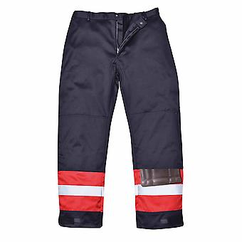 Portwest - Bizflame Plus Flame Resistant Hi-Vis Safety Workwear Trouser