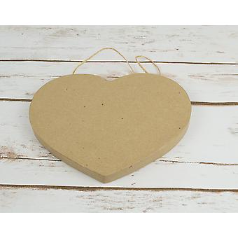 Paper Mache Small Hanging Heart Shape for Adult Crafts - 18cm