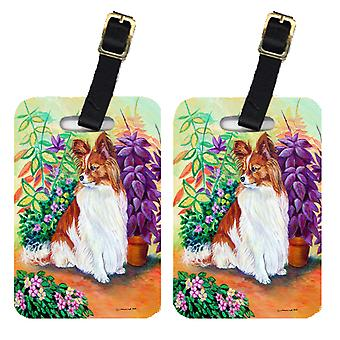 Carolines Treasures  7274BT Pair of 2 Papillon Luggage Tags