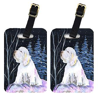 Carolines Treasures  SS8346BT Pair of 2 Clumber Spaniel Luggage Tags