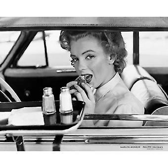 Marilyn Monroe på Drive-In 1952 plakat Print af Philippe Halsman (30 x 24)