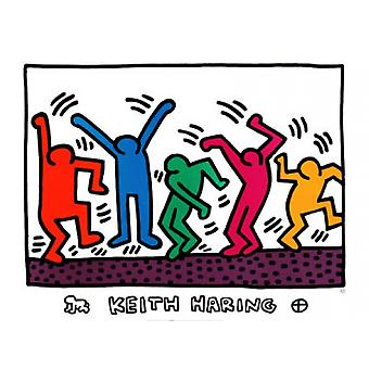 Untitled (Dancers) Poster Print by Keith Haring (32 x 24)