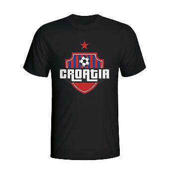 Croatia Country Logo T-shirt (black) - Kids