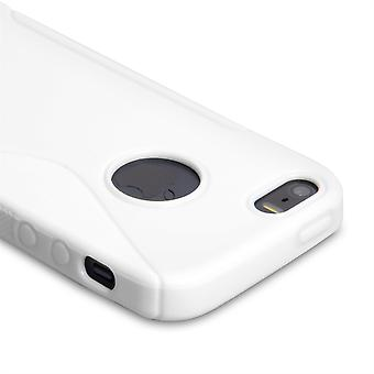 Caseflex Iphone 5 et 5 s Etui en Gel S-Line - blanc