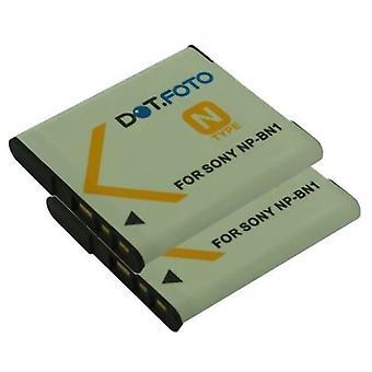 2 x Dot.Foto Sony NP-BN, NP-BN1 - bateria 3.7 v / 630mAh