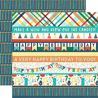 Happy Birthday Boy Double-Sided Cardstock 12