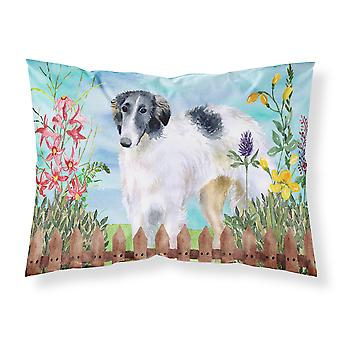 Carolines Treasures  CK1234PILLOWCASE Borzoi Spring Fabric Standard Pillowcase