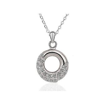 Womens Silver Pendant Necklace Mix And Match Jewellery With Crystal Stones