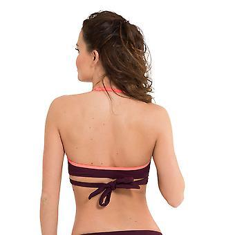 LingaDore 2910HB-147 Women's Journey Vignetto Red Solid Colour Swimwear Beachwear Bikini Top