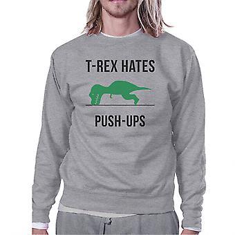 T-Rex Push Ups Sweatshirt molleton gris Mens/unisexe