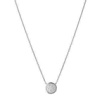 Links Of London Diamond Essentials Sterling Silver & Pave Round Necklace