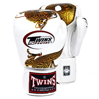 Twins Special White-Gold Dragon Boxing Gloves