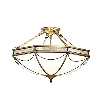 Interiors 1900 Russell 8 Light Semi Flush Ceiling Fitting In A