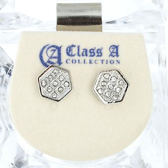 Iced out bling earrings box – HEXAGON 8 mm