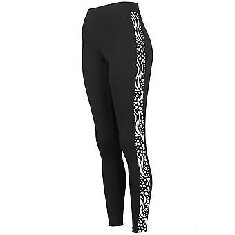 Urban Classics Ladies - Stripe Zoo Fitness Leggings schwarz