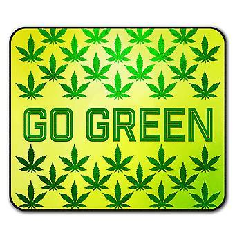 Green Cannabis Pot Rasta  Non-Slip Mouse Mat Pad 24cm x 20cm | Wellcoda