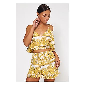 The Fashion Bible Firenza White & Gold Baroque Co-ord