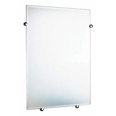 Cabin Rectangular Bathroom Mirror - Polished Chrome CK309