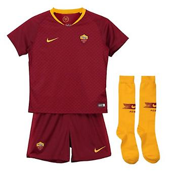2018-2019 AS Roma Casa Nike Little Boys Mini Kit