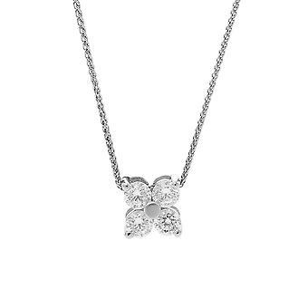 Orphelia plata 925 cadena con colgante flor pequeña con circonio ZH-7312