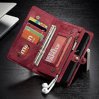 CaseMe Tasche für Apple iPhone X / XS 5.8 Geldbeutel + Schutz Hülle + Etui Rot